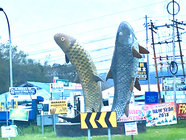 魚のモニュメント
